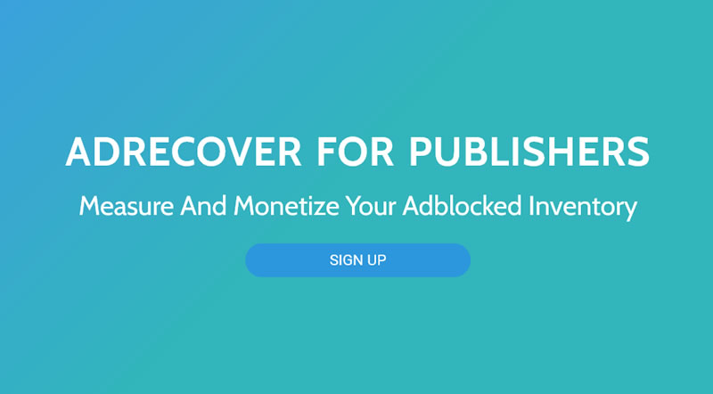 Measure and Monetize your Adblocked Inventory with AdRecover