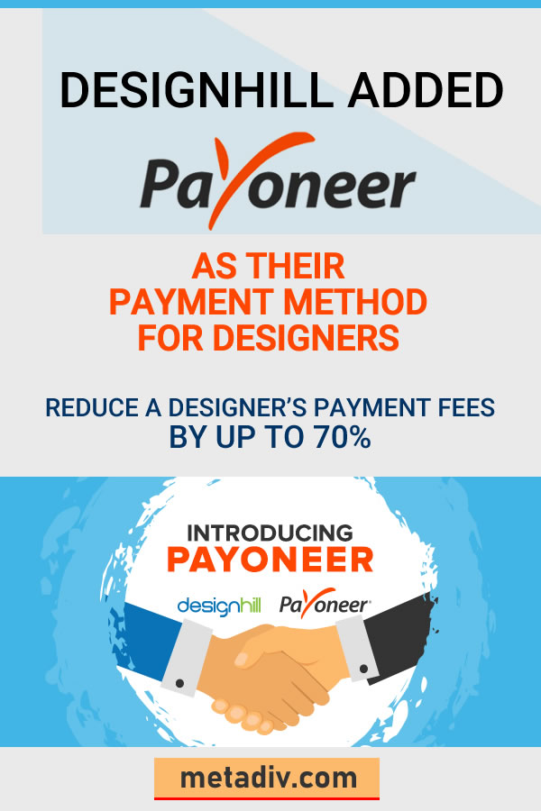 Designhill Introduced Payoneer as their Payment Method for designers. #Designhill #Payoneer #PaymentMethod #Payment #designers #graphicsdesign #graphicdesigners #graphicsdesigners #GraphicDesigns #Marketplaces #GraphicDesignMarketplaces #GraphicDesignMarketplace #PayoneerPayments #Payoneercustomer