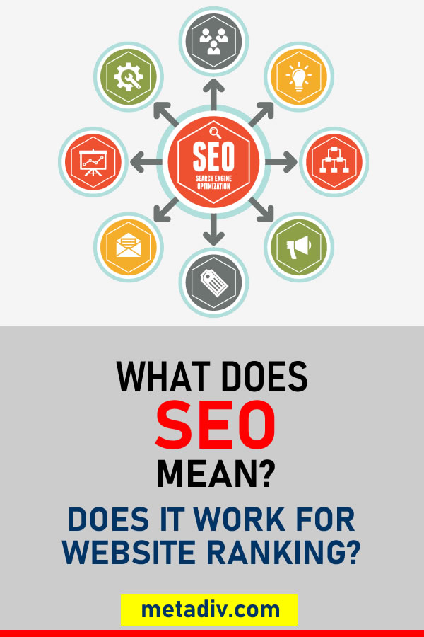 What Does SEO Mean? Does It Work For Website Ranking? #SEO #SeoStrategies #SeoStrategy #WebsiteRank #WebTraffic #SeoStrategies2020 #SERP #SearchEngineRank #SearchEngineRanking #Google #GoogleRank