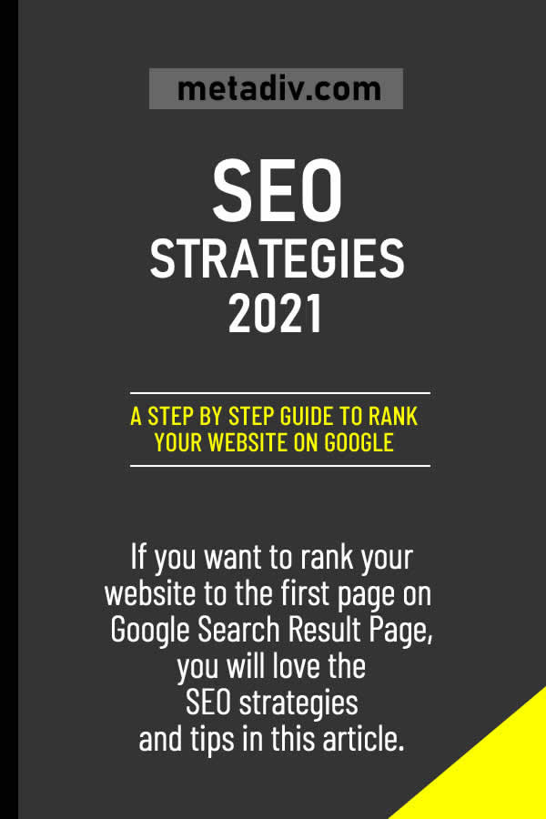 SEO Strategies to Rank Your Website and Get Huge Traffic in 2020 #SEO #SeoStrategies #SeoStrategy #WebsiteRank #WebsiteRanking #WebTraffic #SeoStrategies2020 #SERP #SearchEngineRank #SearchEngineRanking #Google #GoogleRank