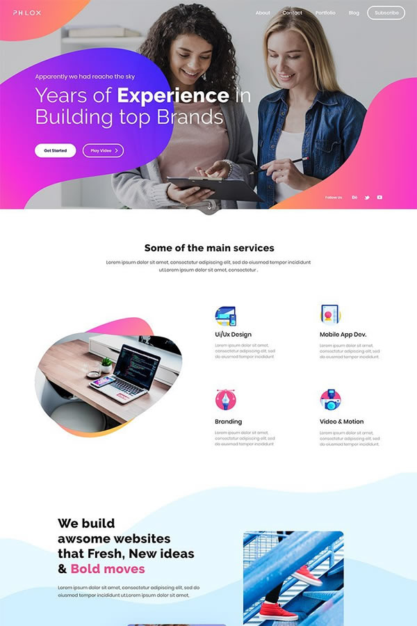 Phlox is a top-rated minimalist theme in the WordPress directory